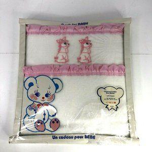 "Vintage New Baby Blanket 36"" x 48"" Polyester Decolin Inc. Girl Pony"